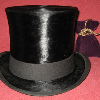 Vintage English Made Silk Top Hat - Hats