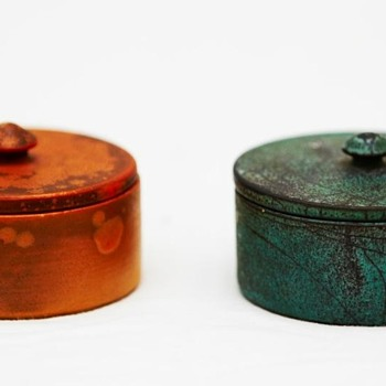 Two Small Lidded Bowls (Kähler Pottery), ca. 1930