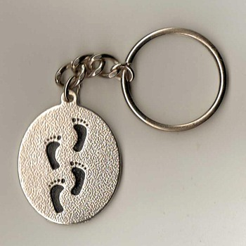 """Footprints in the Sand"" Keychain"