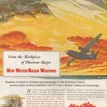 1952 - Martin Aircraft Advertisement - Advertising