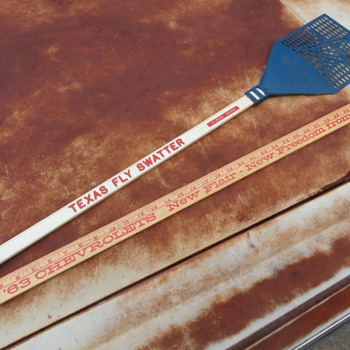 Texas Fly Swatter and '63 Chevrolet yard stick - Office