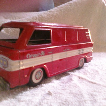 Tin Chevrolet Corvair Greenbriar van... The first mini-van?