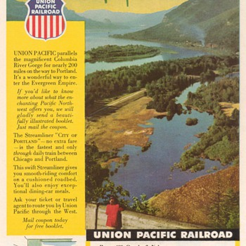 1952 - Union Pacific Railroad Advertisement - Advertising