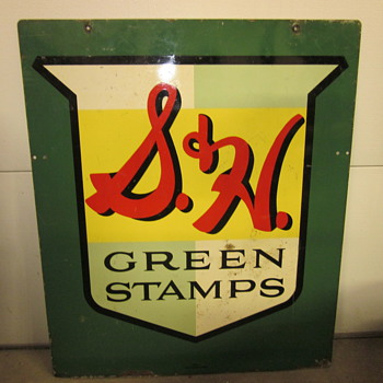 S&H Green Stamp Sign