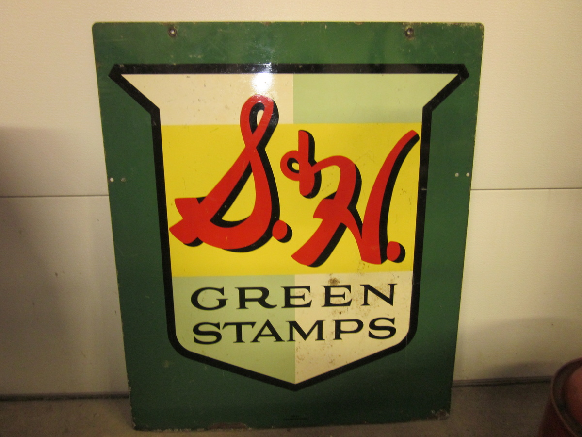 s h green stamp sign collectors weekly. Black Bedroom Furniture Sets. Home Design Ideas