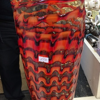 Very large Art Glass Vase