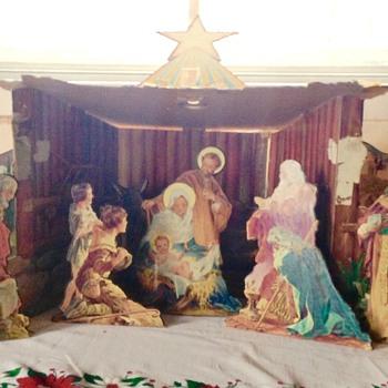 Nanas Christmas 'Crib' unusual cardboard manger.