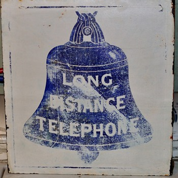 "1888 Pattern ""Long Distance"" flange sign - Telephones"