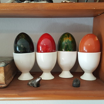My New Bakelite / Catalin Figural Eggs!