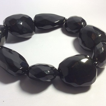 Faceted Bakelite bracelet