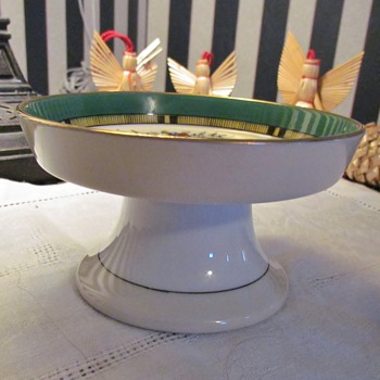 Vintage Enameled Porcelain Footed Bowl/Dish from AmberRose! : )