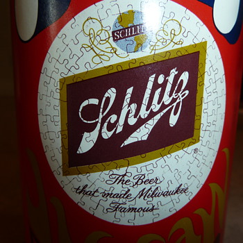 Pop Art Schlitz can jigsaw puzzle - Breweriana