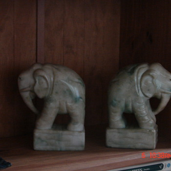 My bookend elephants - Books