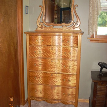 W.B. Moses & Sons Tiger Maple Chest of Drawers c.1903