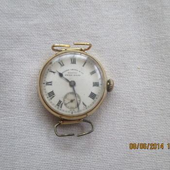 Early 90s Zenith Favre Leuba gold wrist watch