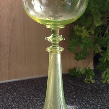 Vaseline glass glass. Moser?