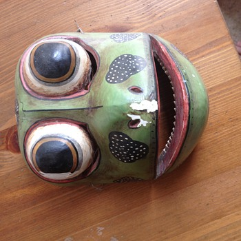Antique Native American Frog Spirit Mask?? - Folk Art