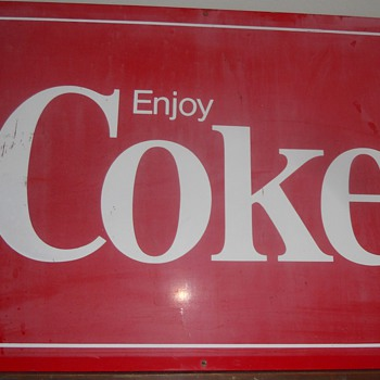 large metal sign - Coca-Cola