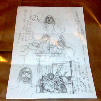 Klaus Voormann Original Drawing/Beatles related