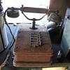 Rare old oak switch board phone?
