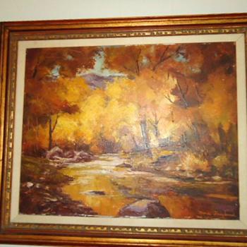 Oil Painting by Mona Froyland, (Ramona Valencia) 1900-1988