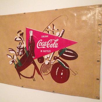 1950's Coca-Cola Canvas Truck Banner