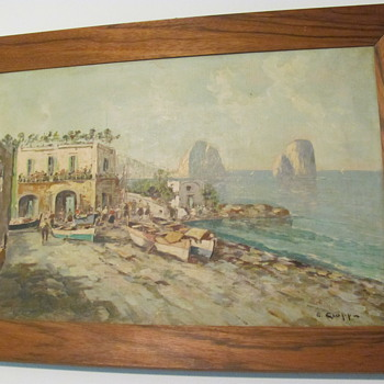 2 seperate Oil Paintings signed by Ciappa
