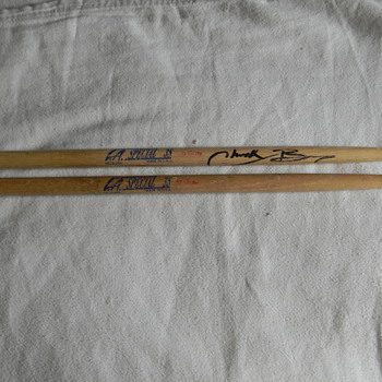 autographed drumsticks need help deciphering autograph - Musical Instruments