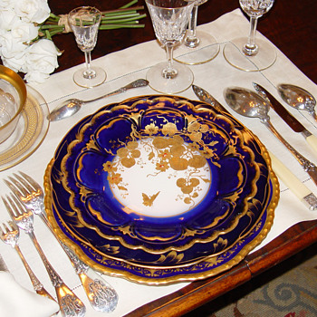 Holiday tables - Antique French sterling silver and fine china - Sterling Silver
