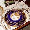 Holiday tables - Antique French sterling silver and fine china