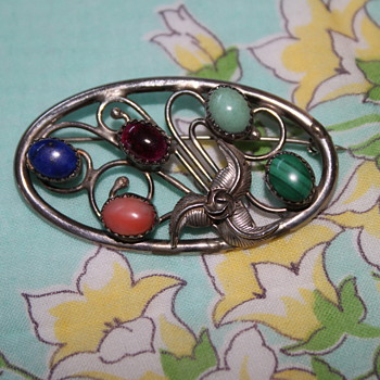 Sterling Silver Brooch - Fine Jewelry