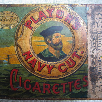 1924 Player's Navy Cut Cigarettes Tin - Tobacciana