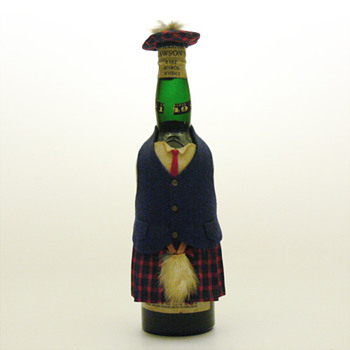 William Lawson&#039;s bottle in a kilt, late 1960s.
