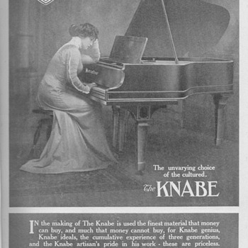 1909 Knabe Piano Advertisement - Advertising