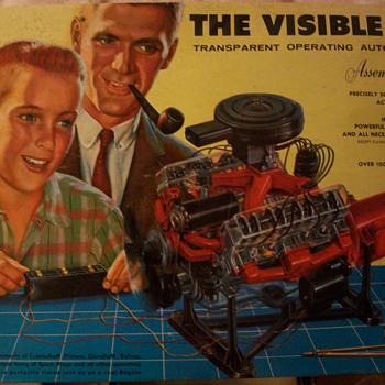 1960 Renwal visible  V-8 model - Toys