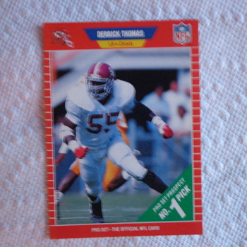 1989 Pro Set Derrick Thomas ROOKIE CARD - Cards