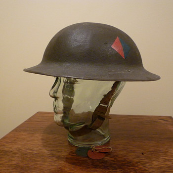 British WWI steel helmet, re issued WWII - Military and Wartime