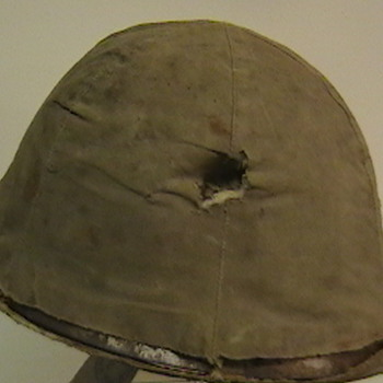 WW II Japanese Army Type 90 Helmet with Original Cover - Military and Wartime