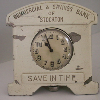 Savings Bank & Clock - Clocks