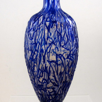 "Harrach ""Peloton"" Vase, ca. 1880s - Art Glass"