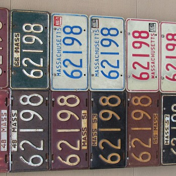 5 Digit Mass Plates From 47 to 89 - Signs