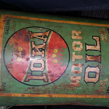 IOKA Earliest Irving Oil 5 gallon can - Petroliana