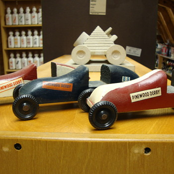 SURVIVED....My three actual pinewood derby cars....... - Model Cars