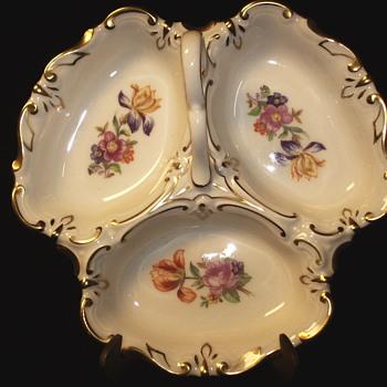 Rare Jlmenau Graf Von Henneberg Porcelain Relish Tray Germany.