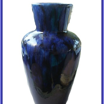 West German Pottery -- Blue Vase