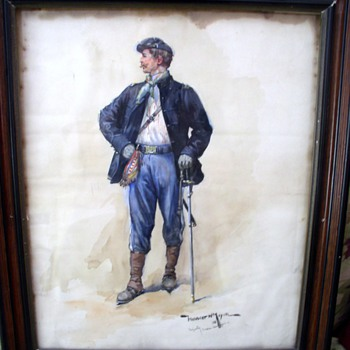 Watercolor of Civil War Soldier