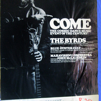 #52 ~ 1971 Concert Poster: Byrds, Blue Oyster Cult & McLaughlin - Posters and Prints