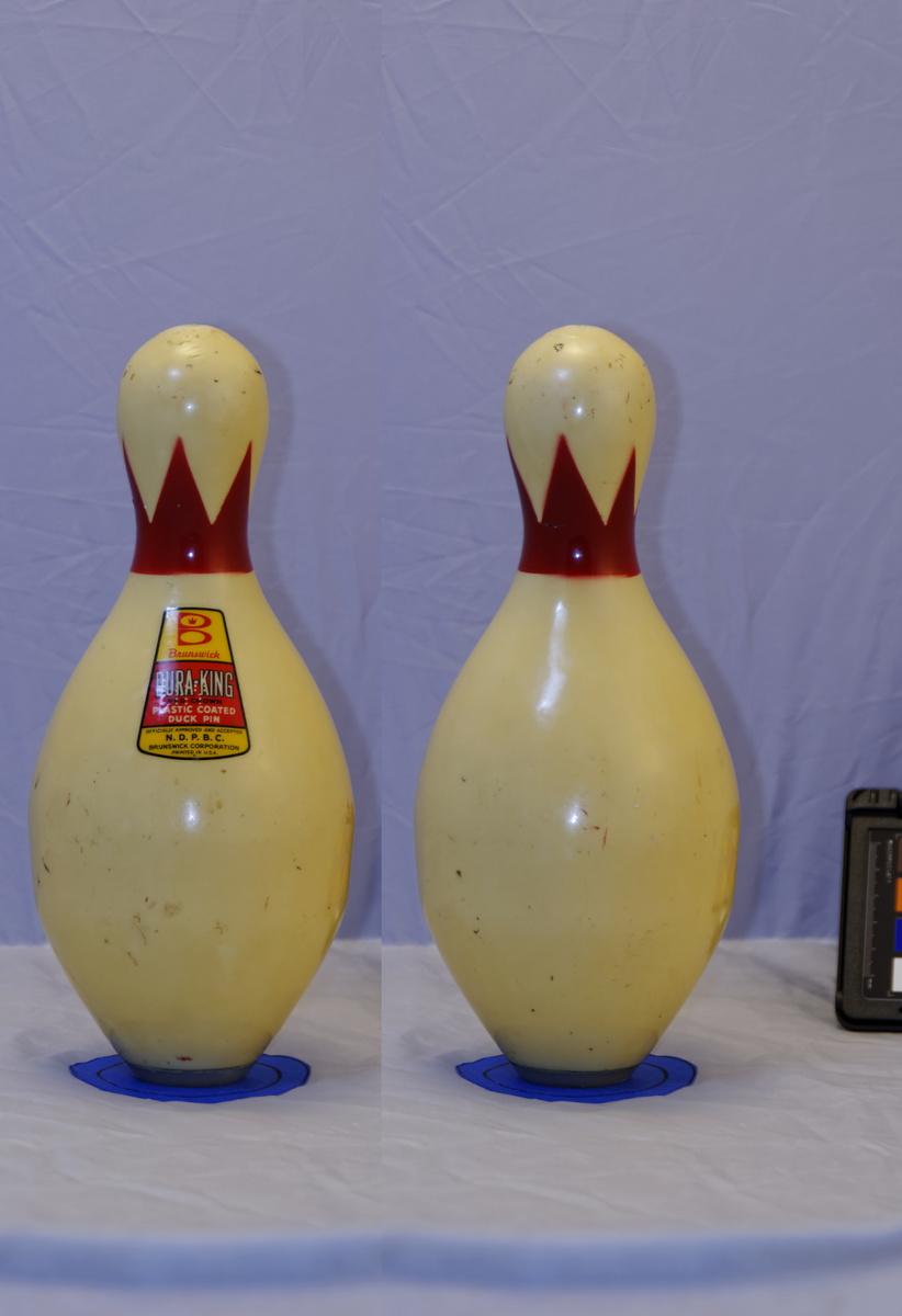 brunswick duraking duckpin bowling pin collectors weekly