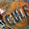 beautiful rusty gulf sign