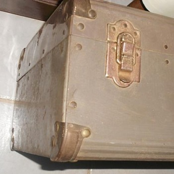 1940's Sheet Metal Suitcase - Trunk - Furniture